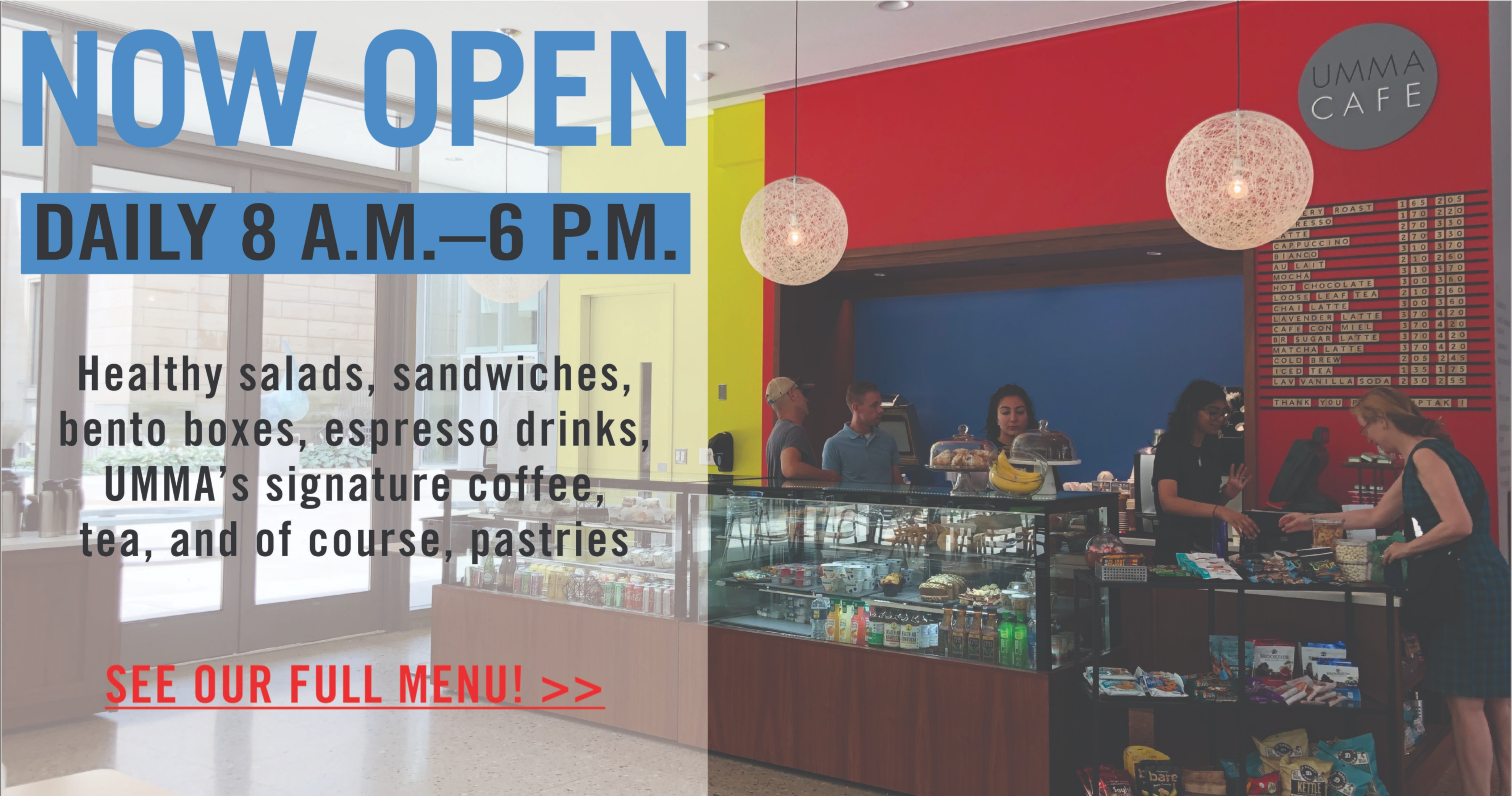 UMMA Cafe Now Open!