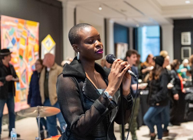 Kesswa performing at UMMA After Hours, April 2, 2019