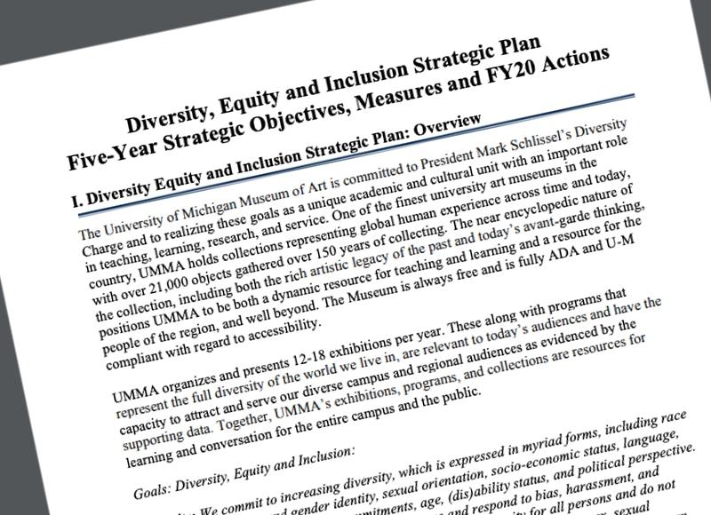 Image of FY20 UMMA DEI Plan